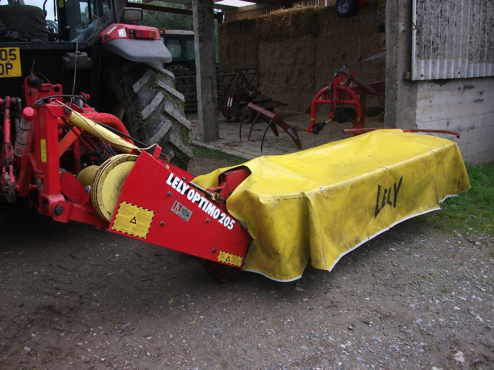 Lot 1 - Lely Optimo 205 disc mower, advised has done very little work and is in very good working order,
