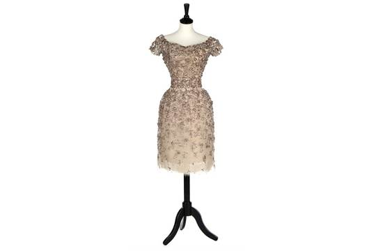 d8095cd6bb0 An Yves Saint Laurent for Christian Dior couture embroidered cocktail dress,  Autumn-Winter, 1958,