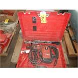HILTI TE50 ELECTRIC HAMMER DRILL W/EXTRA MASONARY BITS & CHISELS