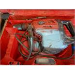 HILTI TE70 ATC ELECTRIC HAMMER DRILL W/EXTRA MASONARY BITS