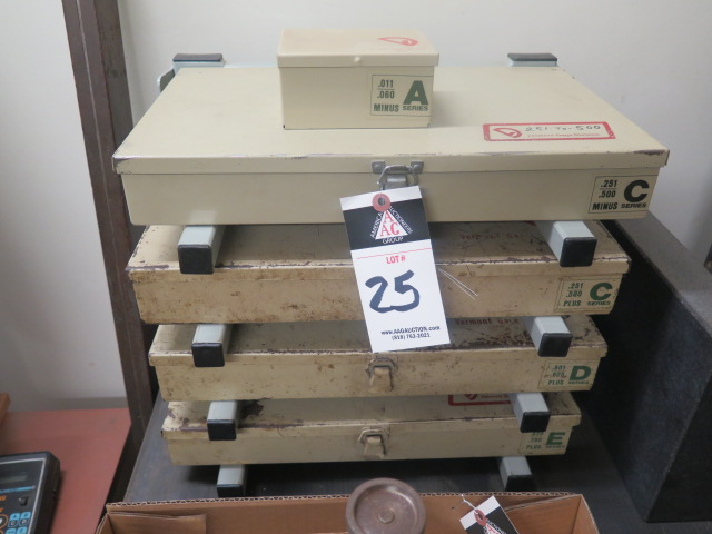 Lot 25 - Vermont Pin Gage Sets w/ Rack