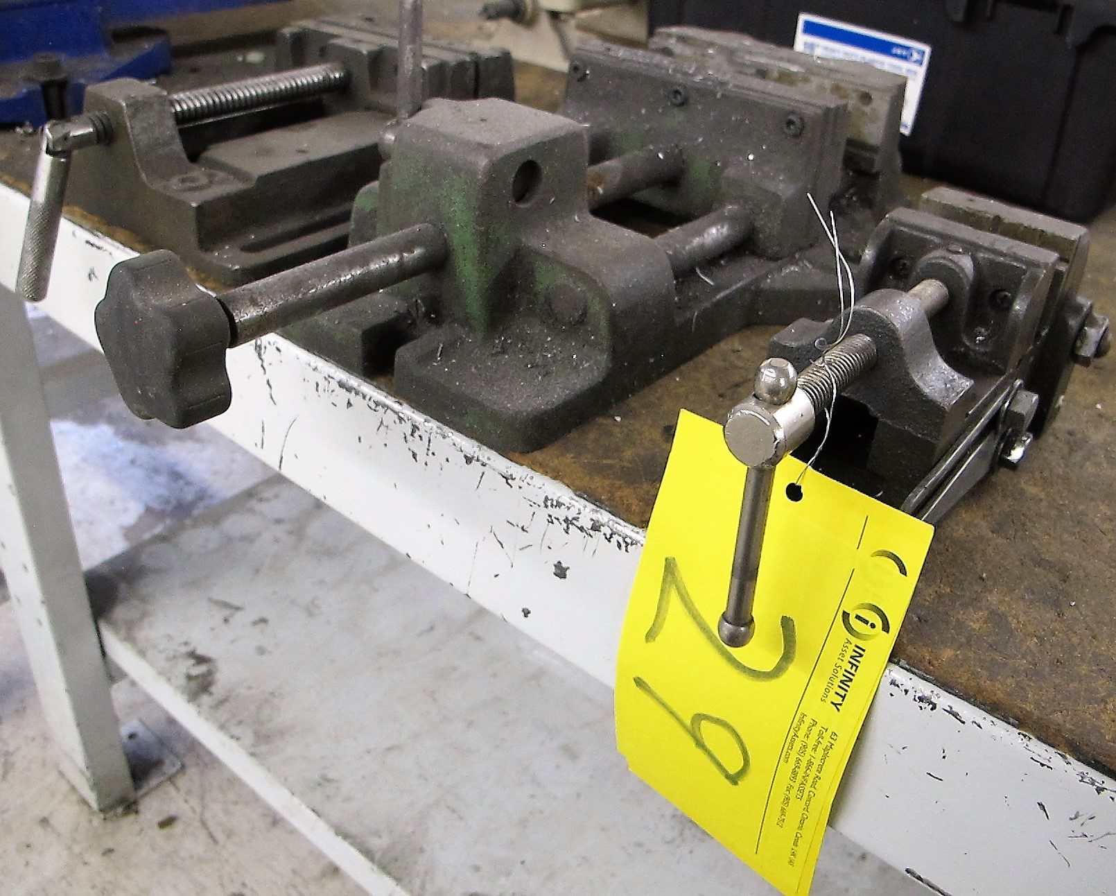 """LOT OF 3 MACHINE VISES (2 - 6"""" AND 1 - 2 1/2"""")"""