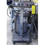 GEMA PGC1 POWDER COATING PAINT MACHINE W/GUN AND CABLES ON CART