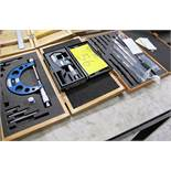 "LOT OF MITUTOYO 0-1"" DIGITAL MICROMETER, MITUTOYO INSIDE MICROMETER KIT, STM 0-4"" MICROMETER"