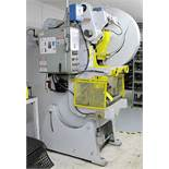 "MINSTER 45 TON STAMPING PRESS, SLIDE STROKE 3"", SLIDE ADJUSTMENT 8 1/2, TRAID DIGITAL BREAK CONTROL,"