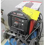 LINCOLN ELECTRIC TIG 200 SQUARE WAVE WELDER W/FOOT PEDAL, CABLES, GUN, REGULATORS, S/N M3L7020352