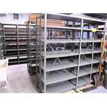 LOT OF 21 SECTIONS OF METAL SHELVING UNITS