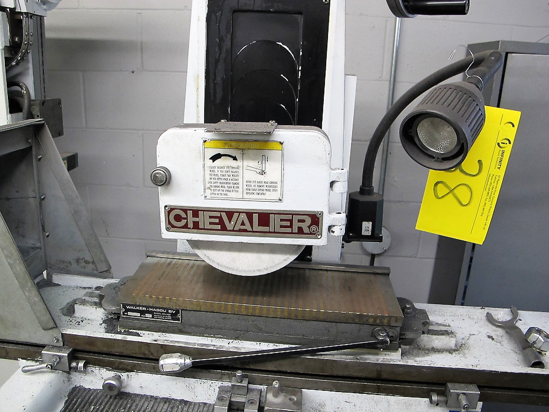 """CHEVALIER FSG-618M SURFACE GRINDER W/WALKER GAOU MODEL 20 MAGNETIC SURFACE PLATE, 6""""D X 18""""L - Image 2 of 5"""