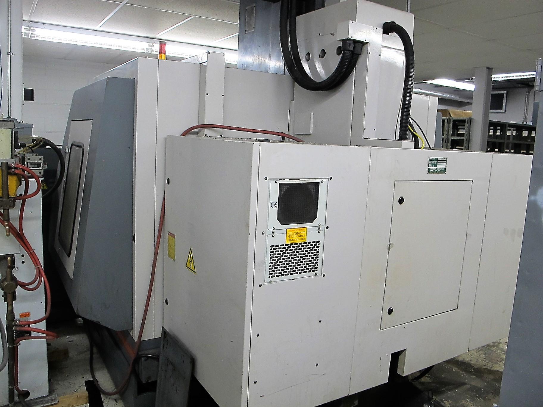 "MAXIMART VMC-850 CNC VERTICAL MACHINING CENTER, 20-ATC, MITSUBISHI CONTROL, 18"" X 39"" TABLE, 3"" - Image 9 of 10"