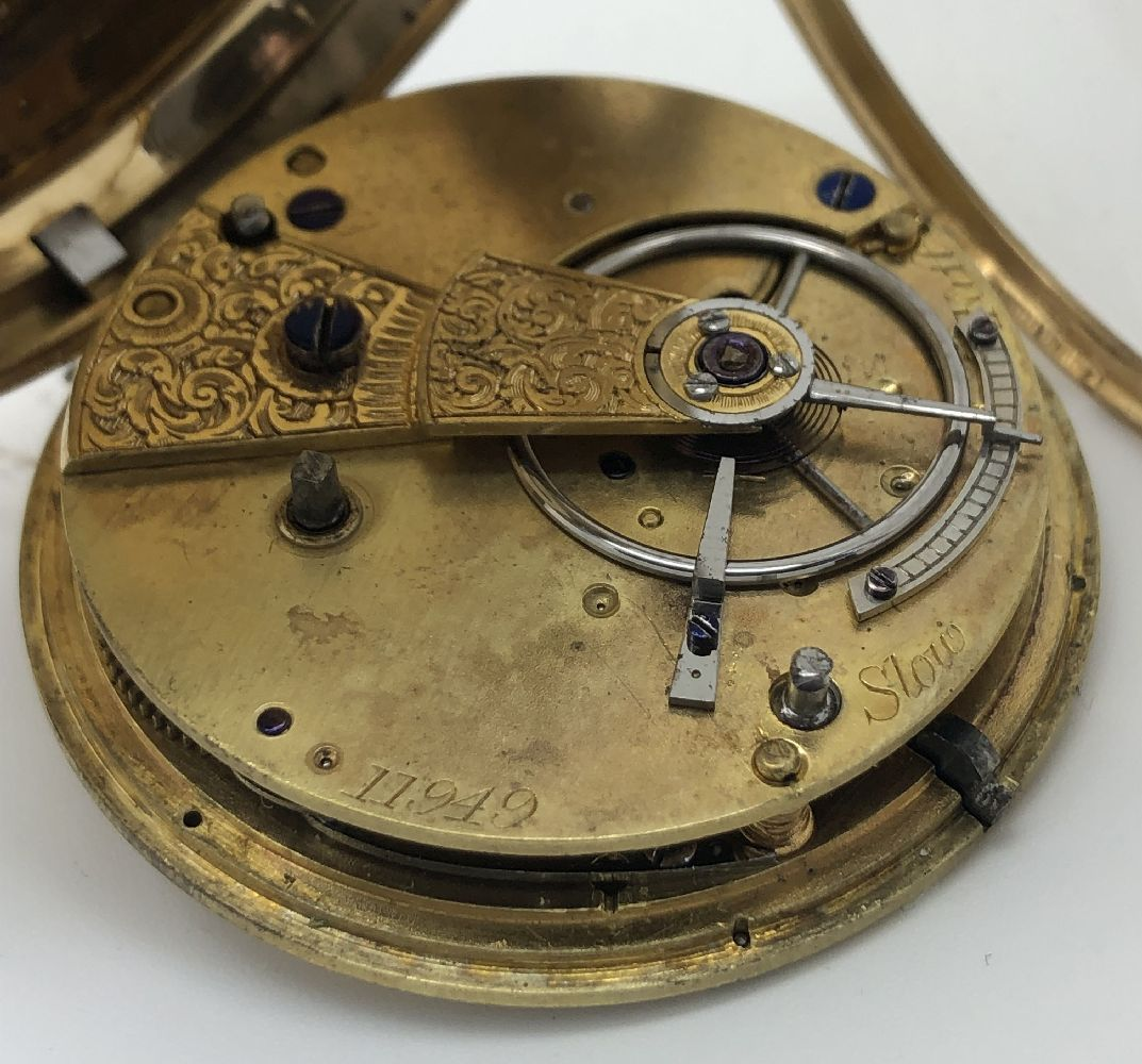 Lot 13 - Unsigned,18 carat gold open face pocket watch