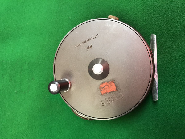 "Lot 81A - A Hardy ""The Perfect 35/8"" fly reel with soft case"