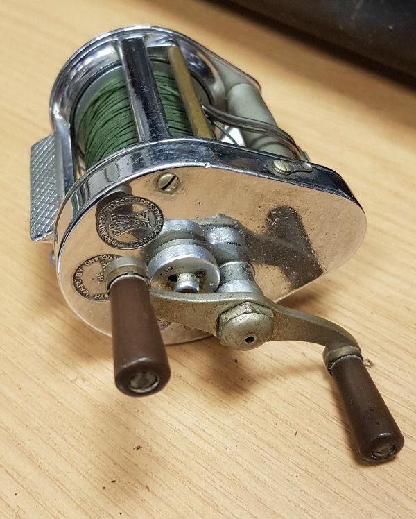 "A Hardy ""Elarex"" chrome plated multiplying fishing reel"