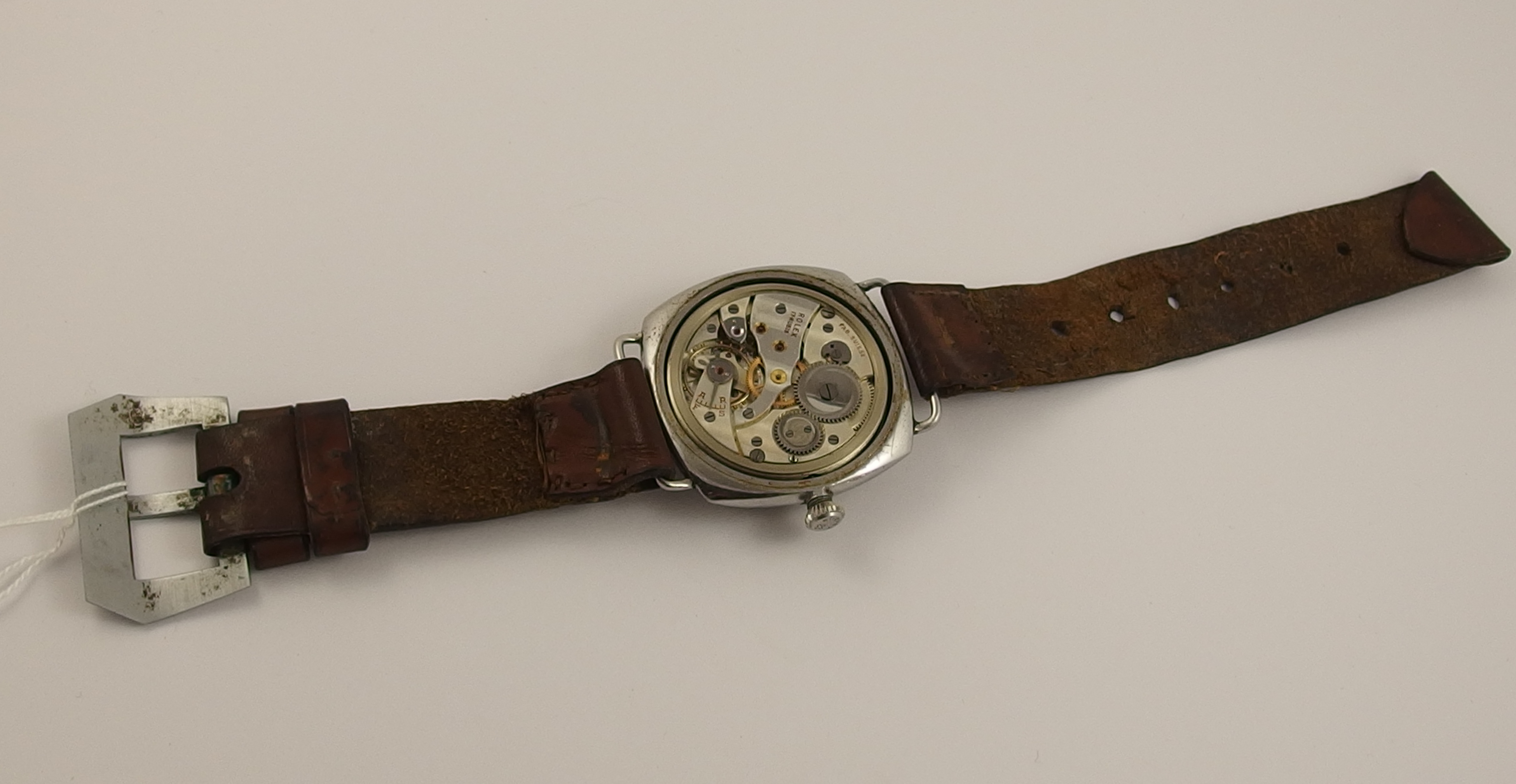 Lot 237 - A Panerai Type D Model 3646 Military Wristwatch with Rolex 17 Rubis movement with domed perspex