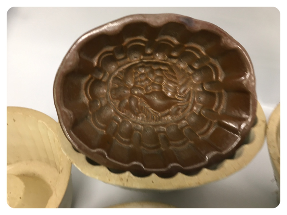 Lot 53 - A COLLECTION OF 11 JELLY MOULD, CERAMIC