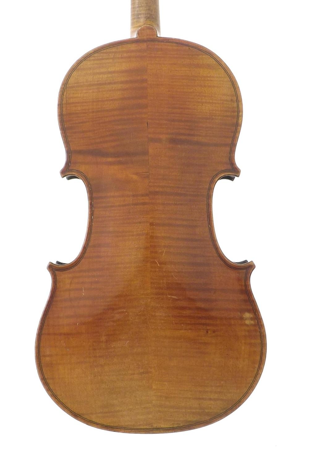 French violin labelled Fini Sous la Direction de Caressa & Francais, Luthiers du Conservatoire, 4, - Image 2 of 3
