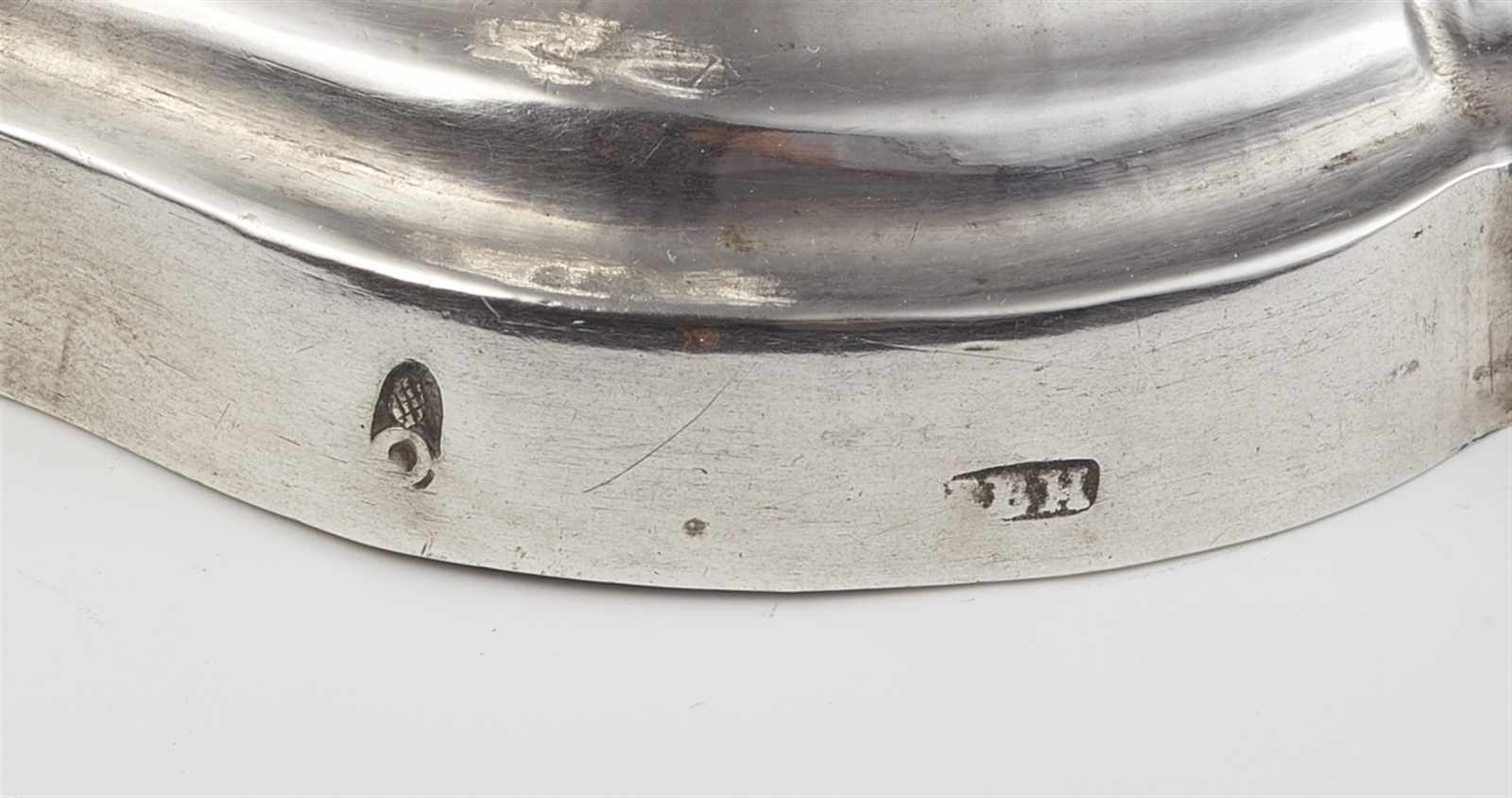 A pair of Augsburg silver candlesticks by Johann HeckenauerRound scalloped base supporting a twist - Image 2 of 2