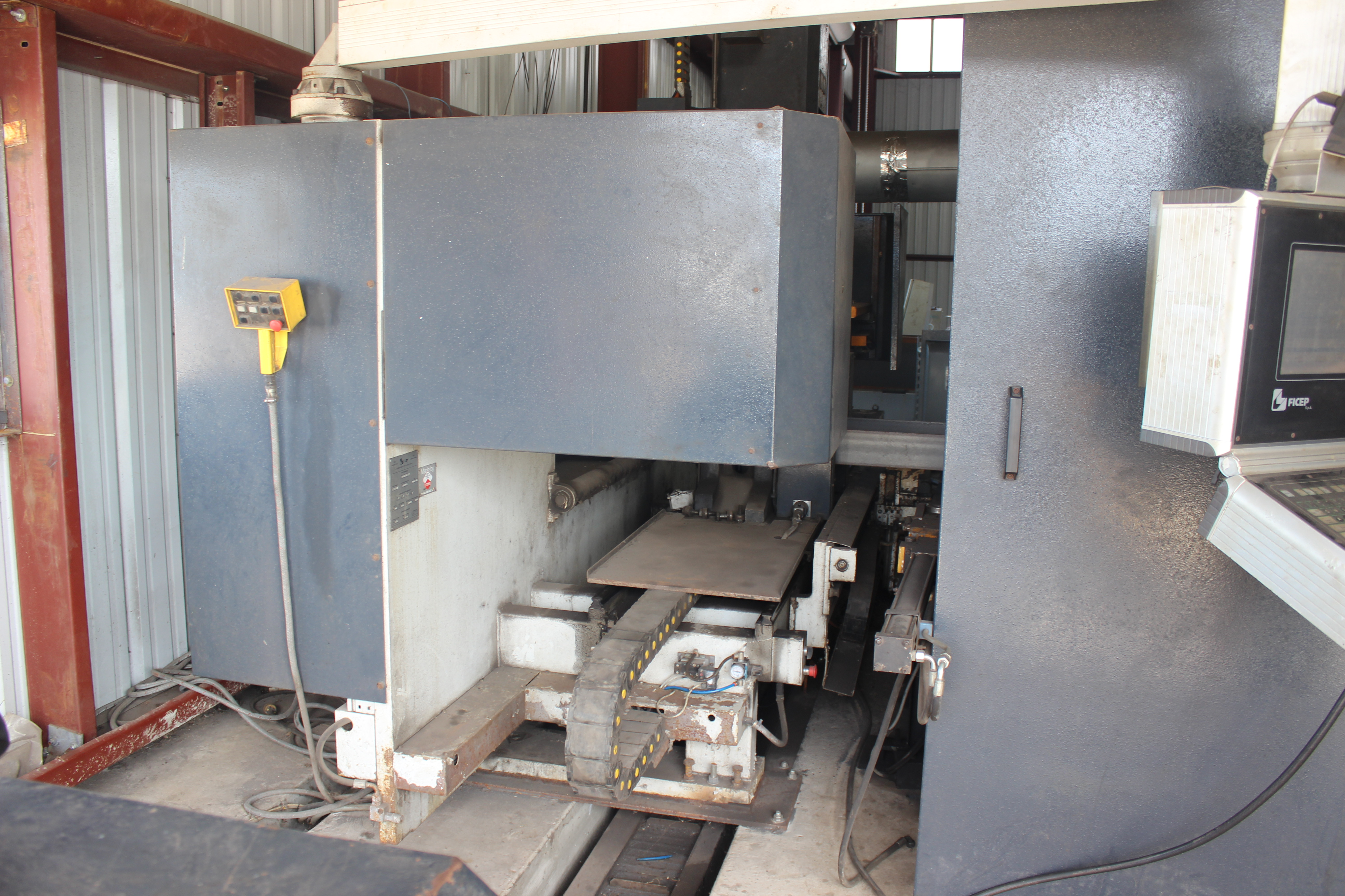Lot 1 - 2014 FICEP MDL: 1102DZTT CNC AUTOMATIC DRILLING & THERMAL COPING LINE