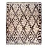 Brown Diamond Rug 207 x 250cm: A gorgeous Moroccan inspired floor rug.