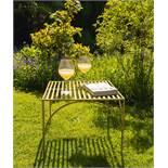 Iron Garden Table in Brass