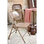 Vintage Folding Indian Chair - Brown