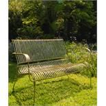 Iron Garden Bench in Brass