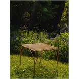 Iron Garden Table in Copper
