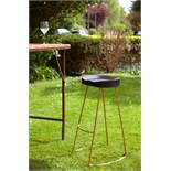 2 x Tall Black Wood and Copper Stool: A gorgeous high bar stool with an ergonomic seat.
