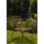 Iron Garden Chair in Copper