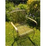 Iron Garden Chair in Brass
