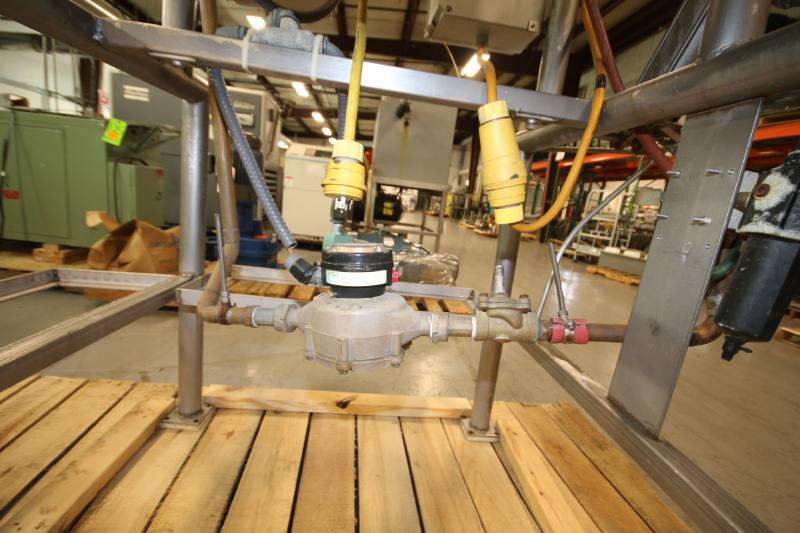 Burkhard Aprox. 70 Gal. S/S Jacketed Tilting Kettle, SN 9466 56N T75, with Pneumatic Tilt, Mounted - Image 7 of 7