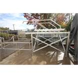 "Aprox. 8 ft. 2"" L x 63"" W x 58"" H S/S Platform with Handrail, Stairs and S/S Grating,"