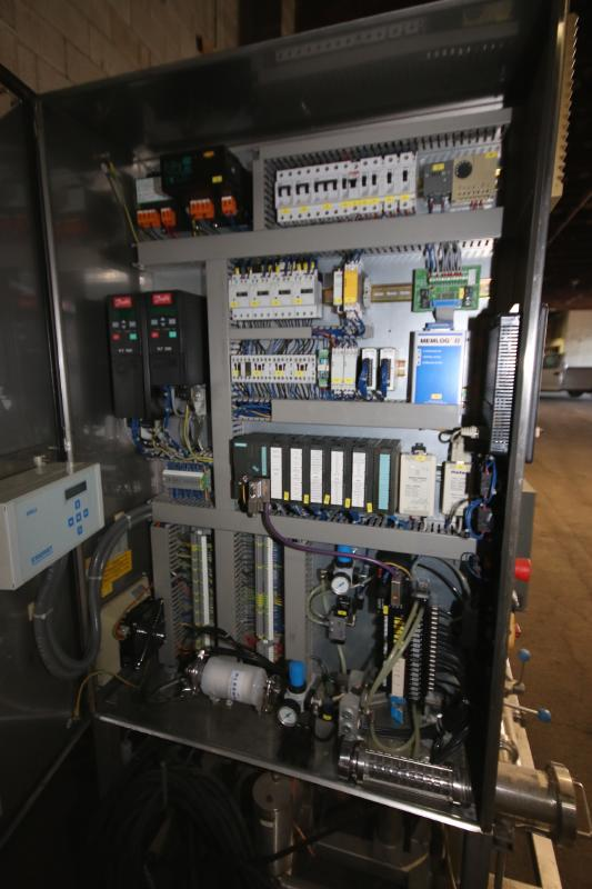 """Skid-Mounted S/S CIP System with Aprox. 40"""" H x 28"""" W S/S Tank, (3) Centrifugal Pumps, Pall - Image 8 of 10"""