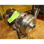 "Alfa Laval 5 hp Centrifugal Pump, Model 9613285603, SN 814434, with 2.5"" x 2"" Clamp Type S/S Head,"