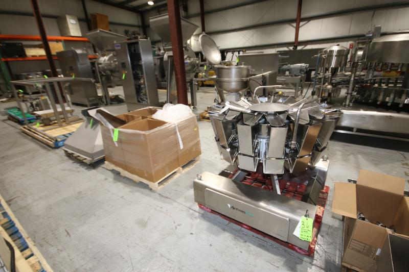 BULK BID LOT #35 TO LOT #39 INCLUDES: 2017 PACKLINE 4-WIDE CUP FILLER, 14-HEAD ROTARY SCALE, S/S - Image 2 of 3