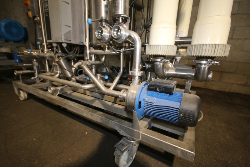 """Skid-Mounted S/S CIP System with Aprox. 40"""" H x 28"""" W S/S Tank, (3) Centrifugal Pumps, Pall - Image 7 of 10"""