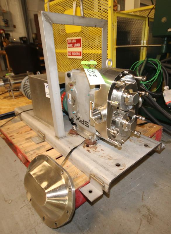 """2015 SPX Positive Displacement Pump, Model 180 U2, SN 1000003046356, with 3"""" Clamp Type S/S Head,"""