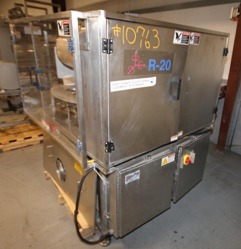 """Orics 8-Station Round Tamper Evident Sealer, Model SLSVGF-R20, S/N SCF9981, Set-Up with 6-1/2"""" W - Image 9 of 11"""