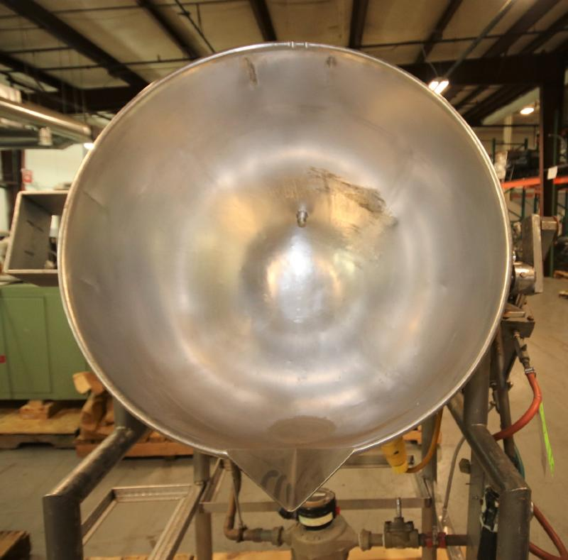 Burkhard Aprox. 70 Gal. S/S Jacketed Tilting Kettle, SN 9466 56N T75, with Pneumatic Tilt, Mounted - Image 2 of 7
