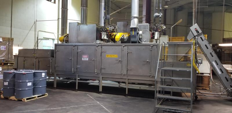 AC Horn & Co. Continuous Nut Roaster Oven, Model Telford 88, S/N 14800, Natural Gas with Infeed