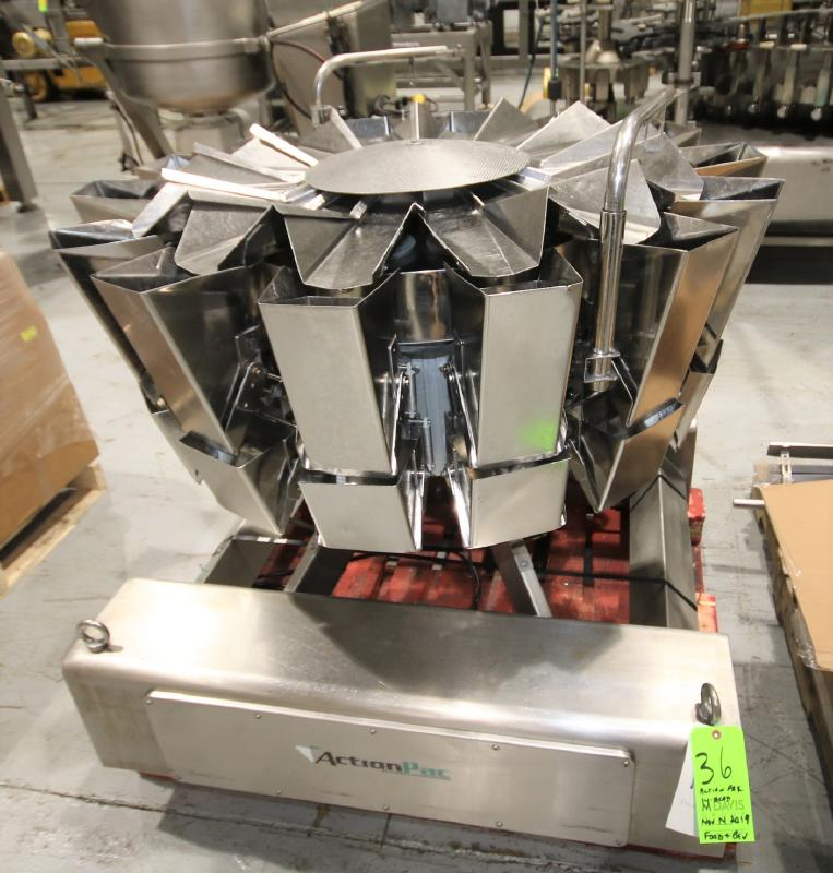 2017 Action Pak 14-Head Rotary Scale, Model MULT 1109-1.6x14, S/N 4594 with PLC Controller with - Image 2 of 12