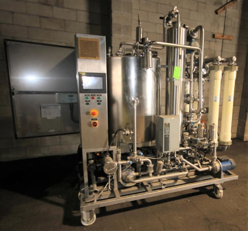 """Skid-Mounted S/S CIP System with Aprox. 40"""" H x 28"""" W S/S Tank, (3) Centrifugal Pumps, Pall - Image 2 of 10"""