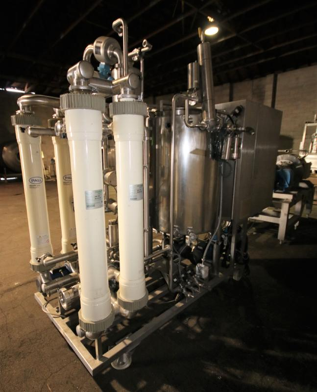 """Skid-Mounted S/S CIP System with Aprox. 40"""" H x 28"""" W S/S Tank, (3) Centrifugal Pumps, Pall - Image 10 of 10"""