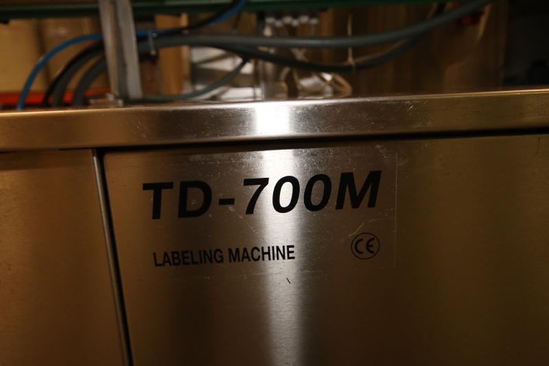 2017 Tadbik Pressure Sensitive Labeler, Model TD 700M, S/N 2962, Full Wrap Around Labele - Image 8 of 8