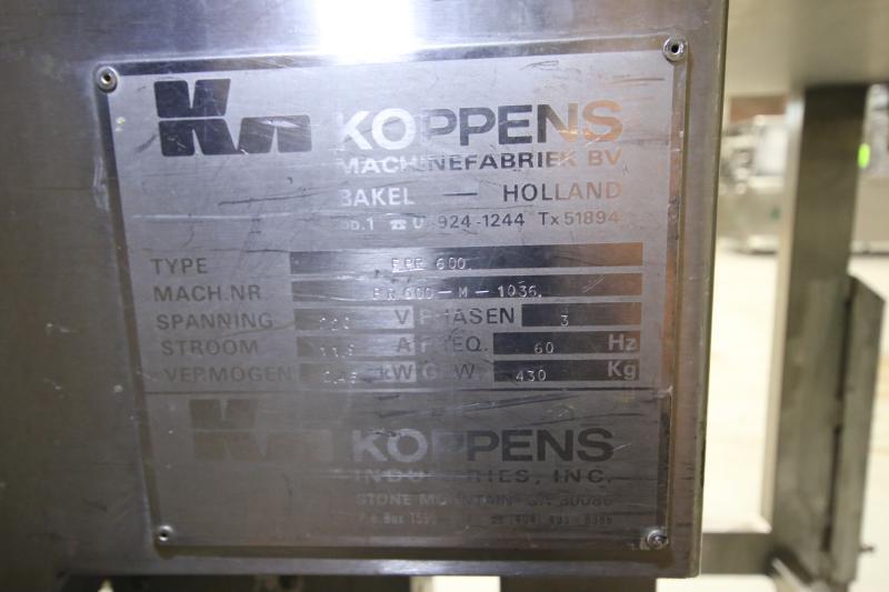 Koppens Batter/Breader, Type EPR600, Machine #PR600-M-1036, 220 V, 3 Phase, Variable Speed Drive, - Image 10 of 10