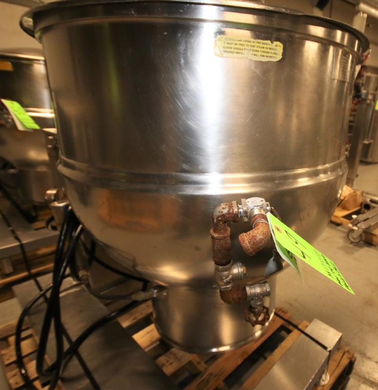 Groen 60 Gal. Tilt Kettle, Model DEE/4T-60, S/N 37173, Jacketed Rated @ 50 PSI @ 300 Degree F (Asset - Image 5 of 7