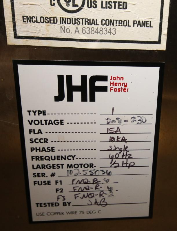 """2016 Volumetrics Single Head Piston/Auger Filler, Model Custom 2090-1, Type 1 with 24"""" S/S Hopper, - Image 8 of 8"""
