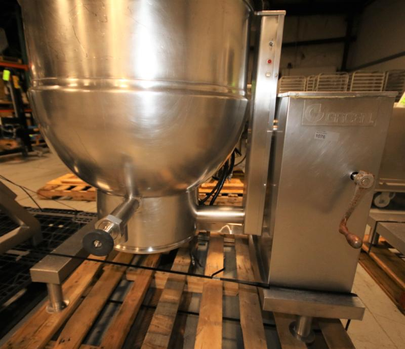 Groen 60 Gal. Tilt Kettle, Model DEE/4T-60, S/N 37173, Jacketed Rated @ 50 PSI @ 300 Degree F (Asset - Image 3 of 7