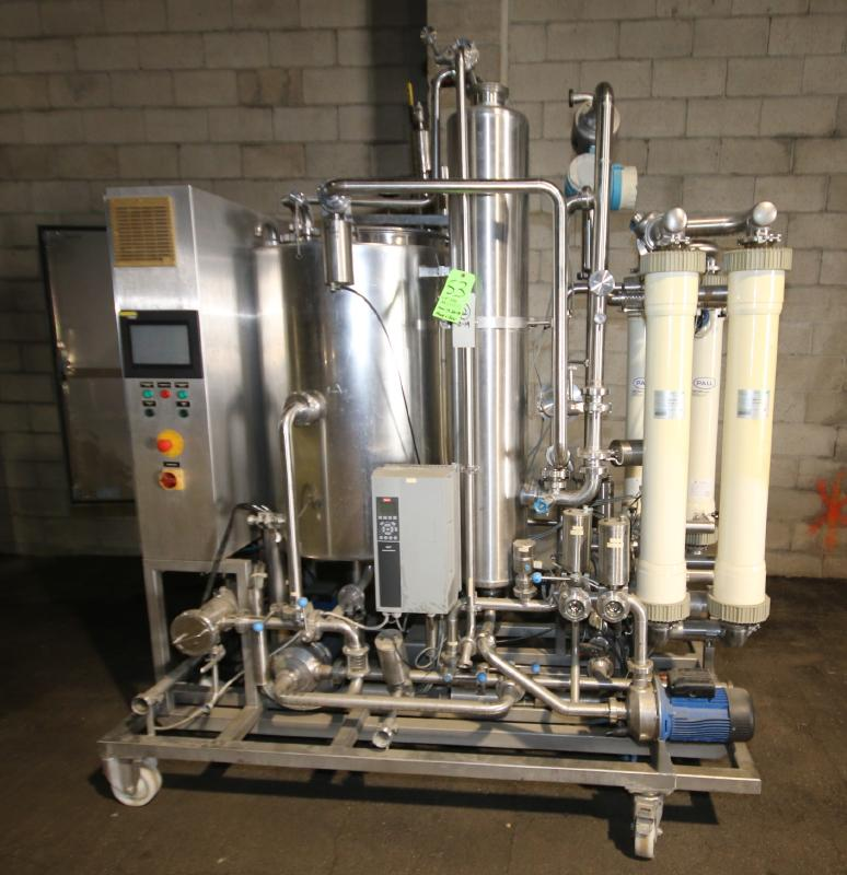 """Skid-Mounted S/S CIP System with Aprox. 40"""" H x 28"""" W S/S Tank, (3) Centrifugal Pumps, Pall"""