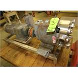 "Waukesha Positive Displacement Pump, with 3"" Clamp Type S/S Head, Includes Rotors, SEW 5 hp Drive"