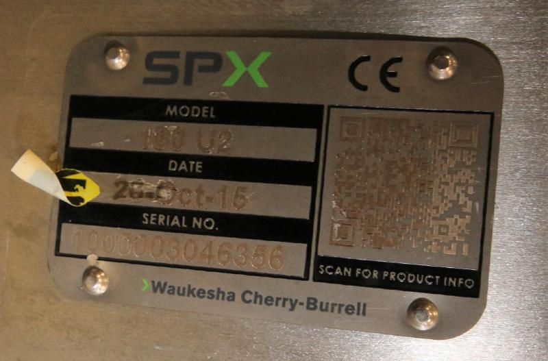 """2015 SPX Positive Displacement Pump, Model 180 U2, SN 1000003046356, with 3"""" Clamp Type S/S Head, - Image 5 of 5"""